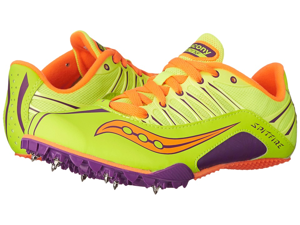 Saucony - Spitfire (Citron/Purple/Orange) Women's Running Shoes