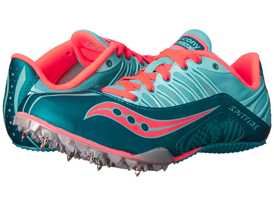 Saucony - Spitfire (Teal/Coral) Women's Running Shoes