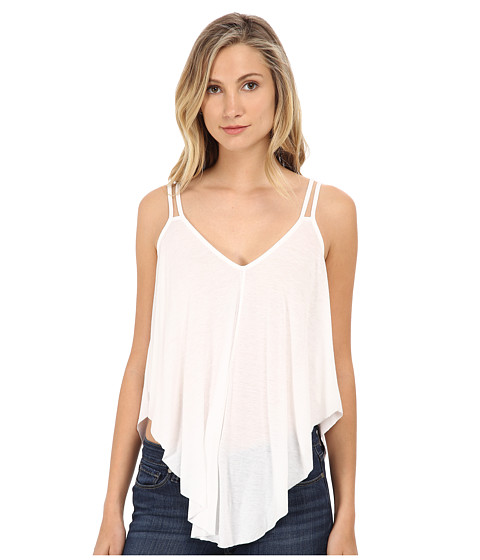 Free People - Fantasy Jersey Cosmic Triangle Top (White) Women