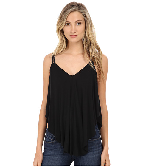 Free People - Fantasy Jersey Cosmic Triangle Top (Black) Women's Clothing
