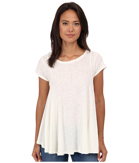 Free People - Slub Sylvie Tee (Ivory) Women's T Shirt