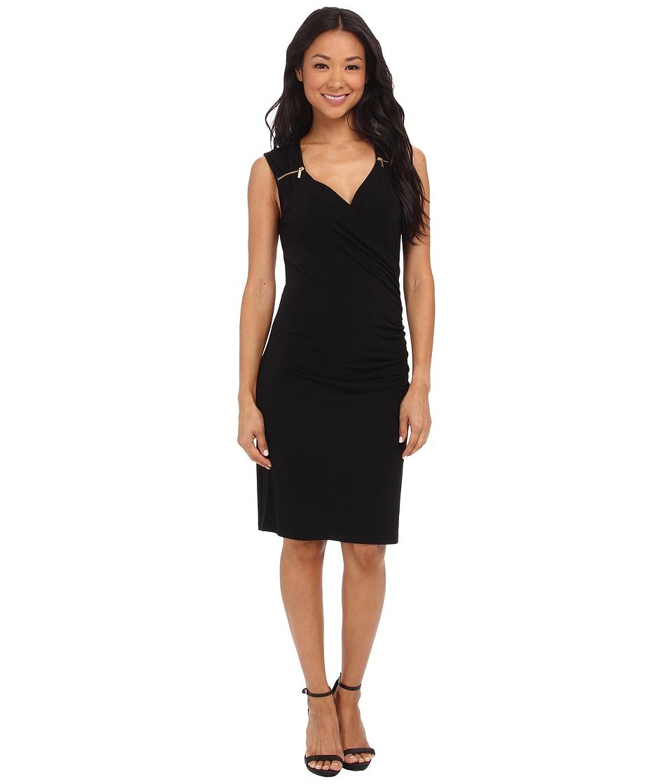 MICHAEL Michael Kors - Sweetheart Neck Dress (Black/Gold) Women