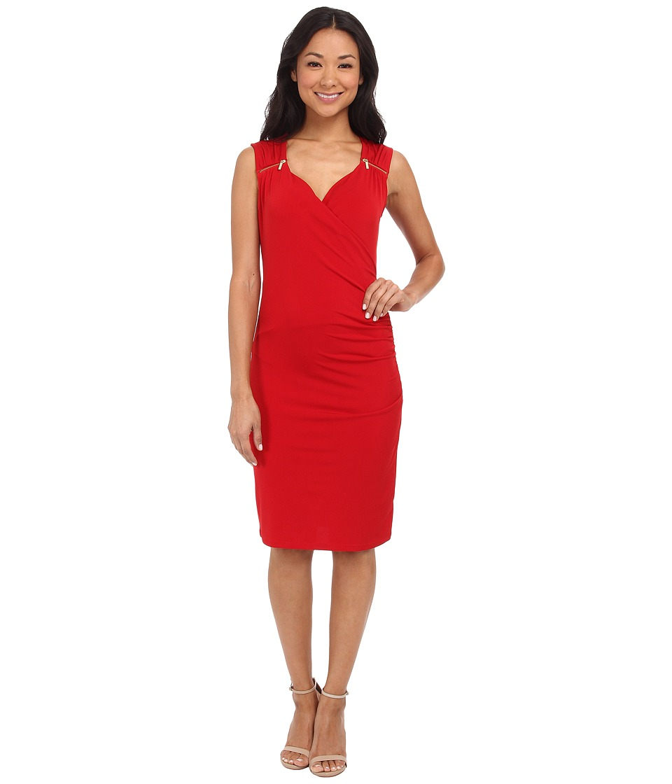 MICHAEL Michael Kors - Sweetheart Neck Dress (Red Blaze) Women's Dress