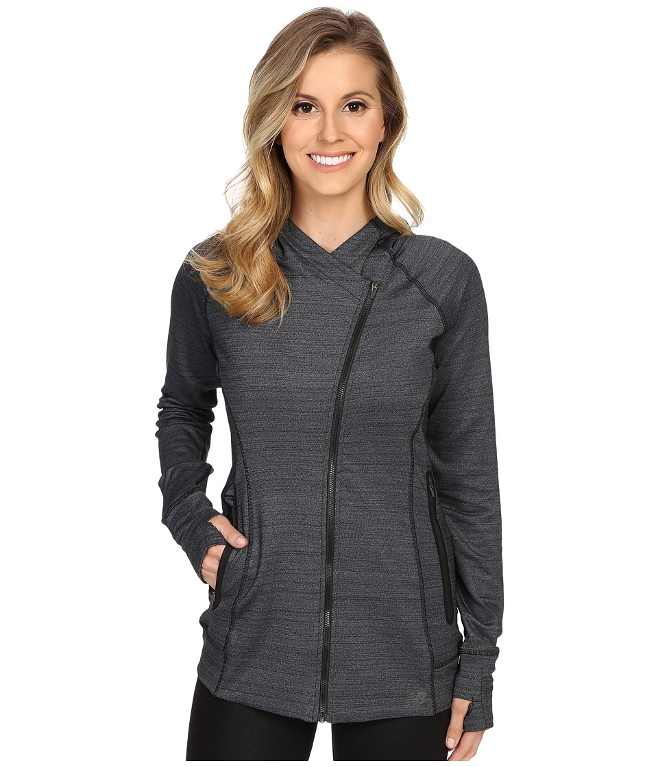 New Balance - Performance Fleece Jacket (Black) Women's Coat