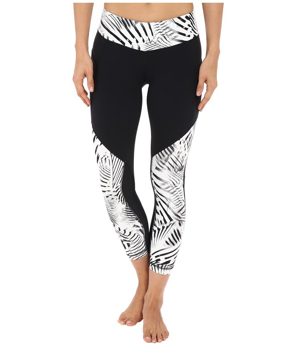New Balance - Fashion Crop Pants (Black/White/Black) Women's Casual Pants