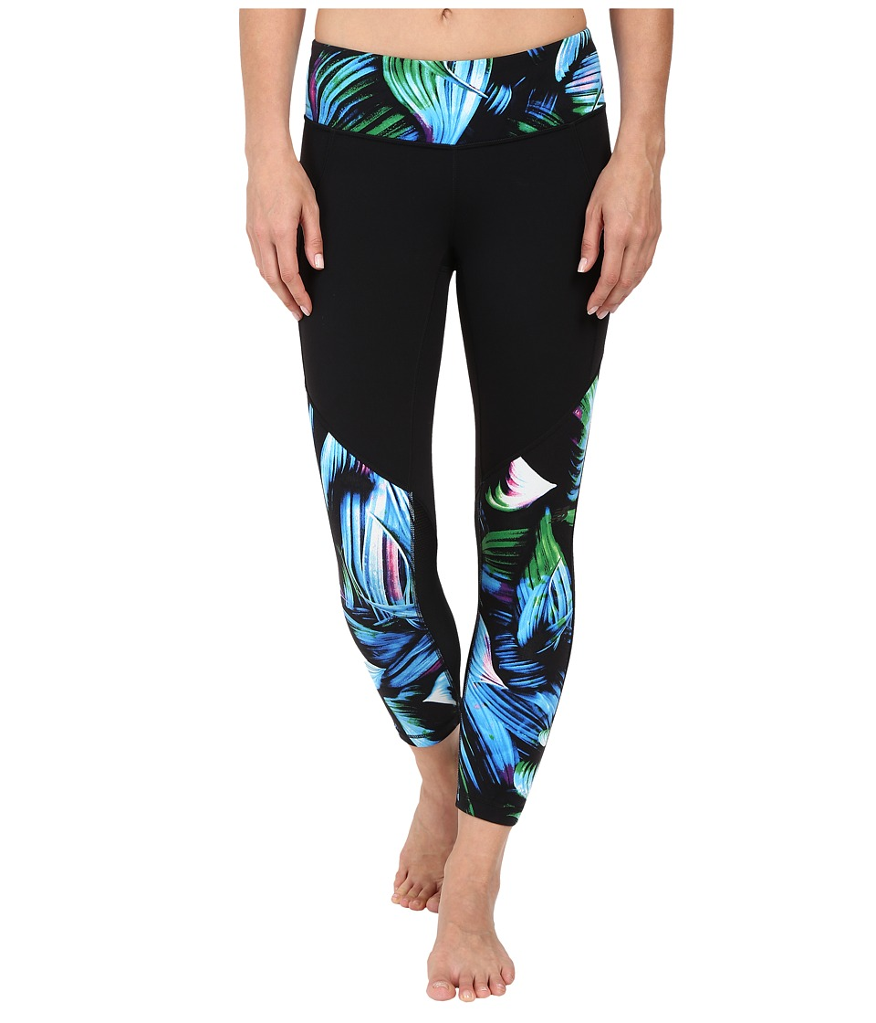 New Balance - Fashion Crop Pants (Underwater Floral/Black) Women's Casual Pants
