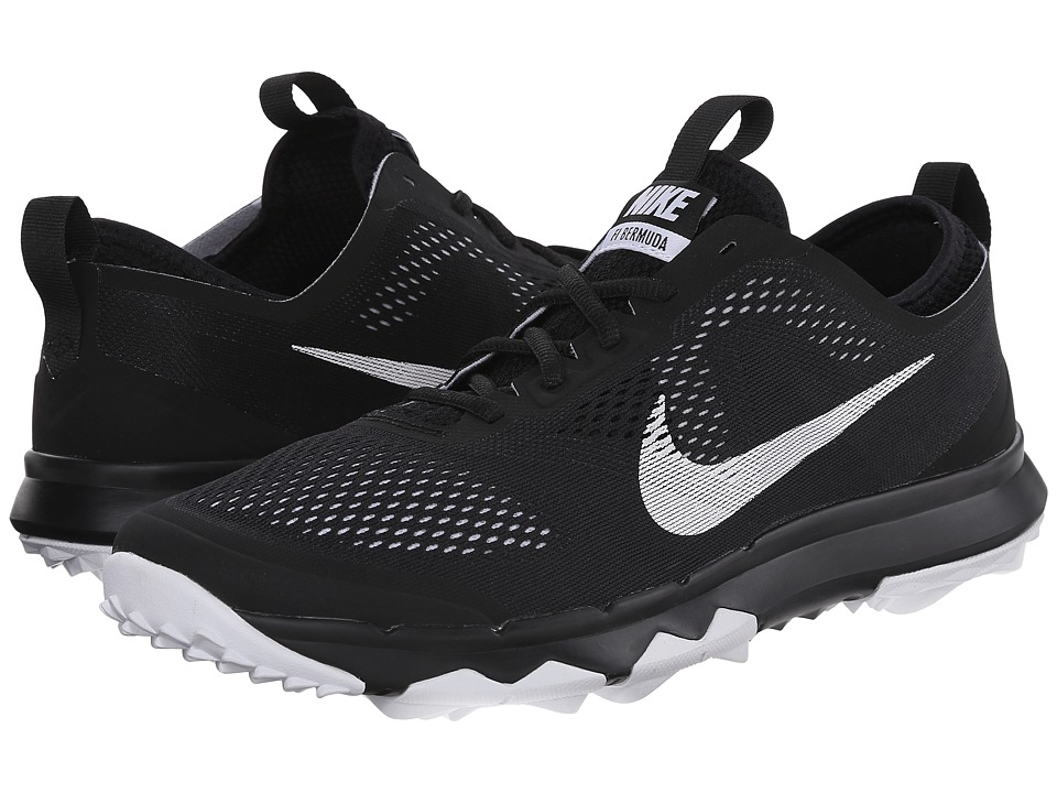 Nike Golf - FI Bermuda (Black/White/White) Men's Golf Shoes