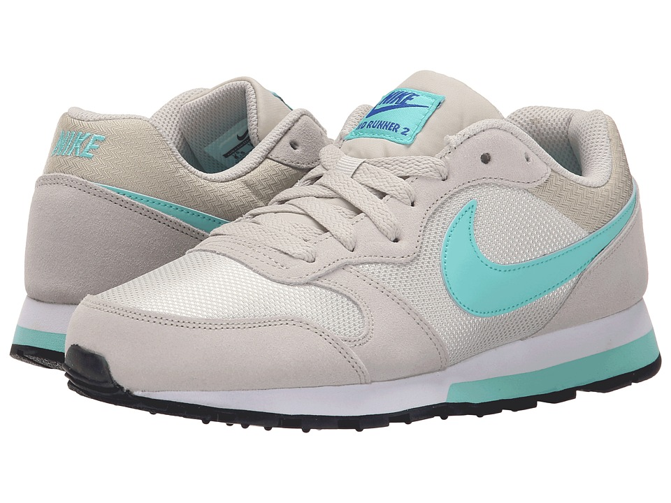 Nike - MD Runner 2 (Light Bone/Racer Blue/White/Hyper Turquoise) Women's Classic Shoes