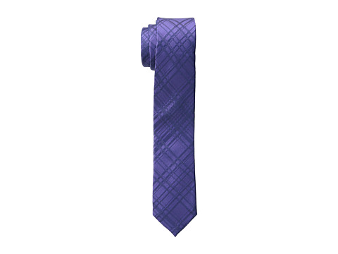 Calvin Klein - Reflection Skinny Plaid Tie (Lilac) Ties