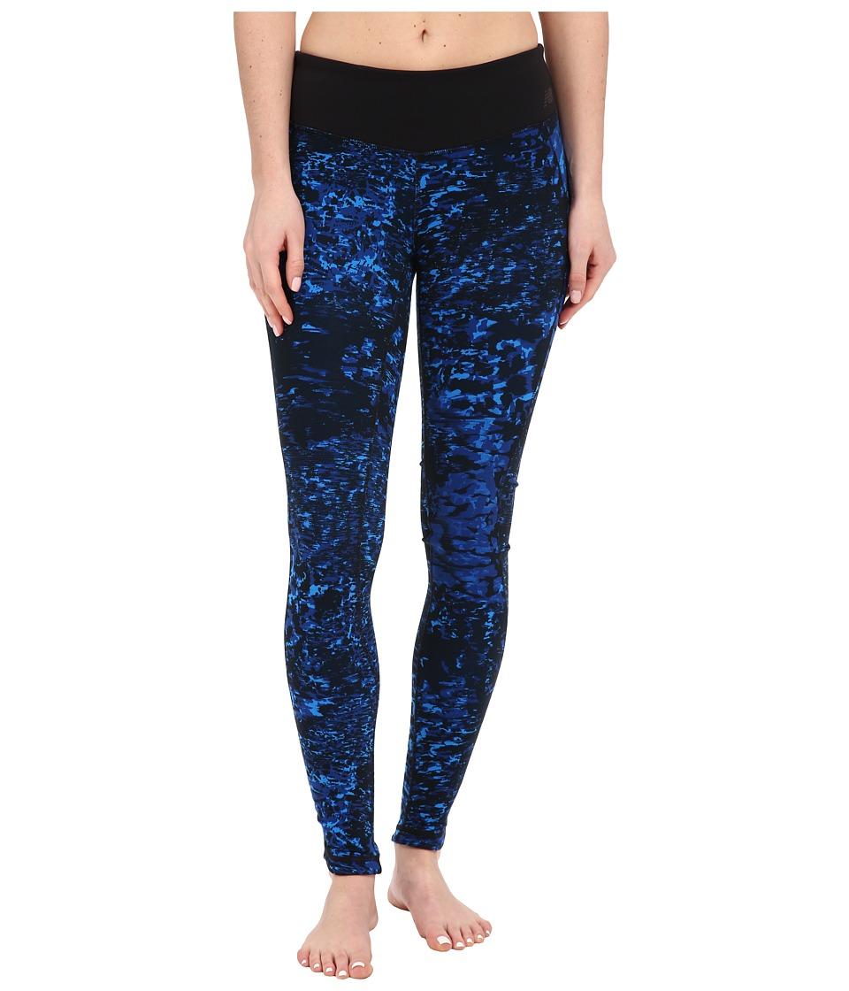 New Balance - Premium Performance Tight Print Pants (Sonar/Multi) Women's Casual Pants