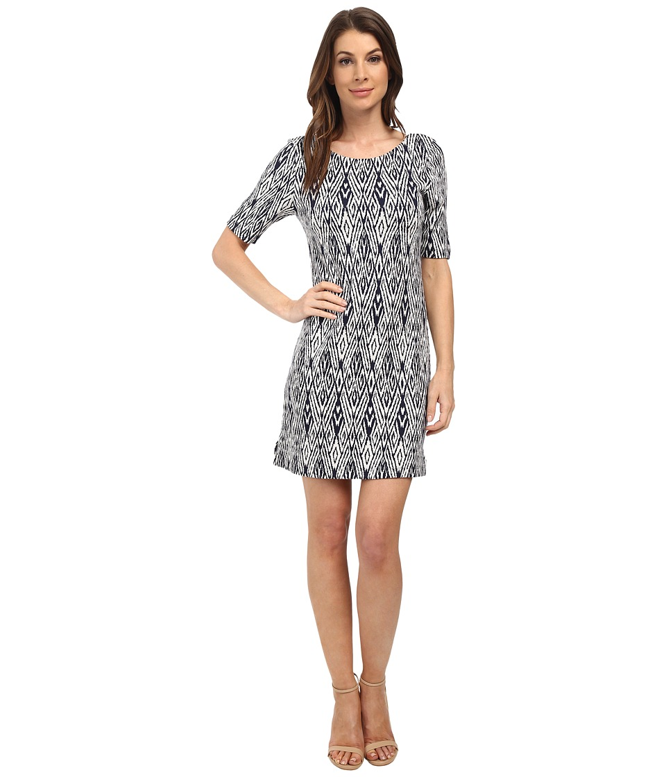 Tart Falcon Dress (Navy/White Ikat) Women
