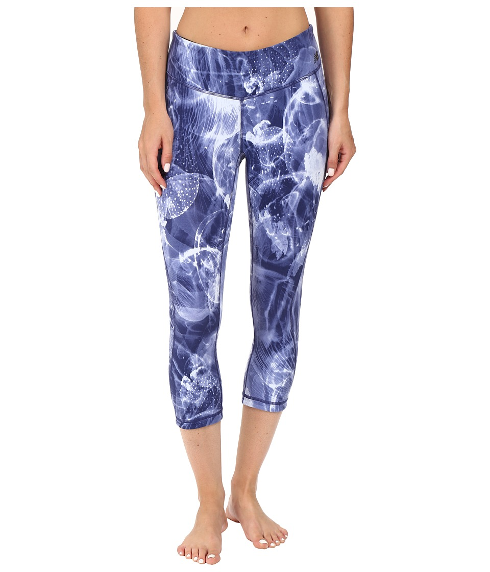 New Balance Premium Performance Capri Print Pants (Basin/Multi) Women
