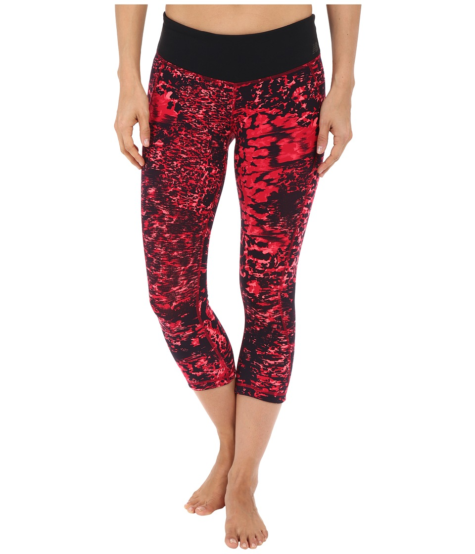 New Balance - Premium Performance Capri Print Pants (Dragon Fly/Multi) Women's Capri