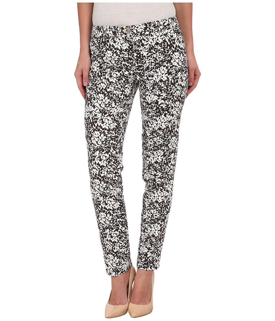 MICHAEL Michael Kors - Bluebell Miranda Pants (Chocolate/White) Women's Clothing