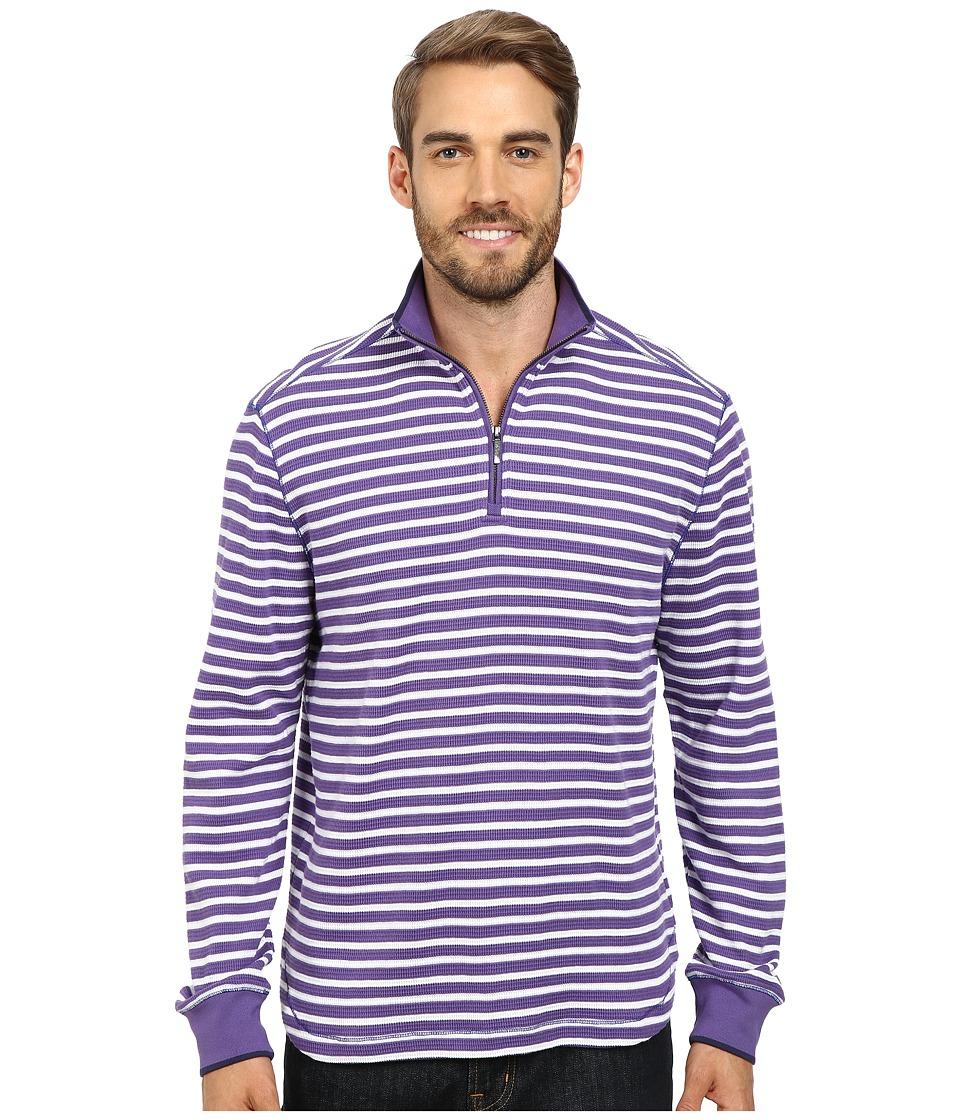 Robert Graham - Windjammer Long Sleeve Stripe Zip Mock (Lilac) Men's Long Sleeve Pullover