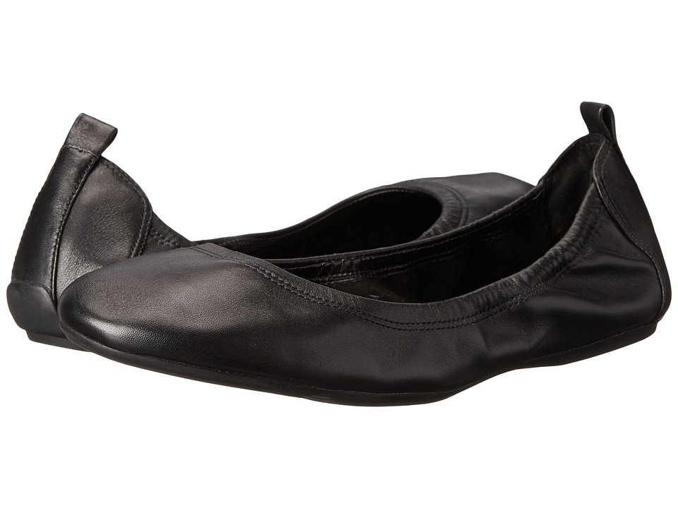 Cole Haan - Jenni Ballet II (Black Leather) Women's Flat Shoes