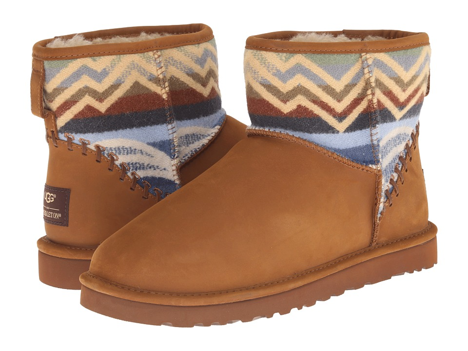 UGG - Classic Mini Deco Pendleton (Chestnut) Men's Cold Weather Boots