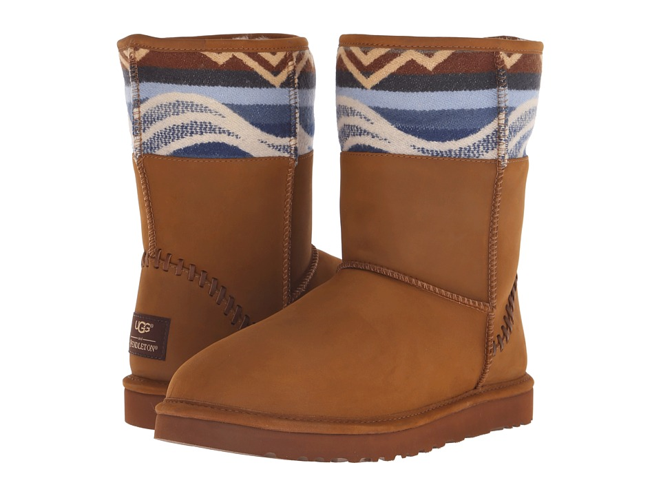 UGG - Classic Short Deco Pendleton (Chestnut) Men