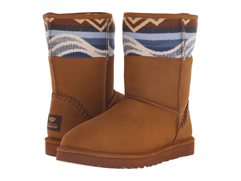 UGG - Classic Short Deco Pendleton (Chestnut) Men's Cold Weather Boots