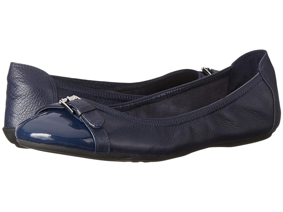 Cole Haan - Jenni Buckle Ballet II (Blazer Blue/Patent) Women