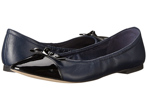 Womens Shoes Cole Haan Rosalie Flat II Blazer Blue/Black Patent