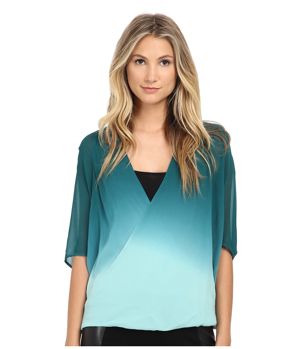 Young Fabulous & Broke - H Top (Teal Ombre) Women's Blouse