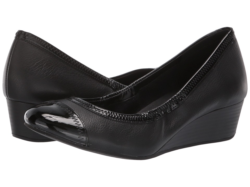 Cole Haan Elsie Cap Toe Wedge II (Black) Women