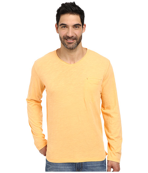 Robert Graham - Beach Blast Long Sleeve Knit T-Shirt (Orange) Men's Long Sleeve Pullover