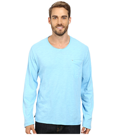 Robert Graham - Beach Blast Long Sleeve Knit T-Shirt (Light Blue 30) Men