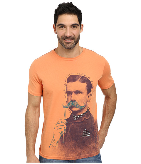 Robert Graham - Trick Stache Short Sleeve T-Shirt (Orange) Men