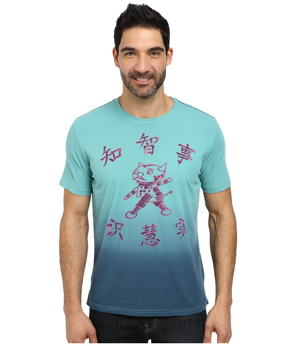 Robert Graham - Devilbot Short Sleeve Knit T-Shirt (Aqua) Men's T Shirt
