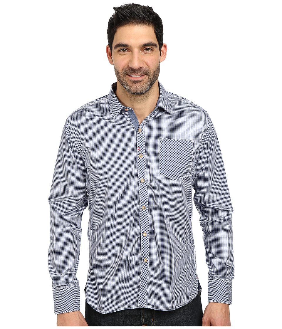 Robert Graham - Sacramento Long Sleeve Woven Shirt (Navy) Men's Long Sleeve Button Up
