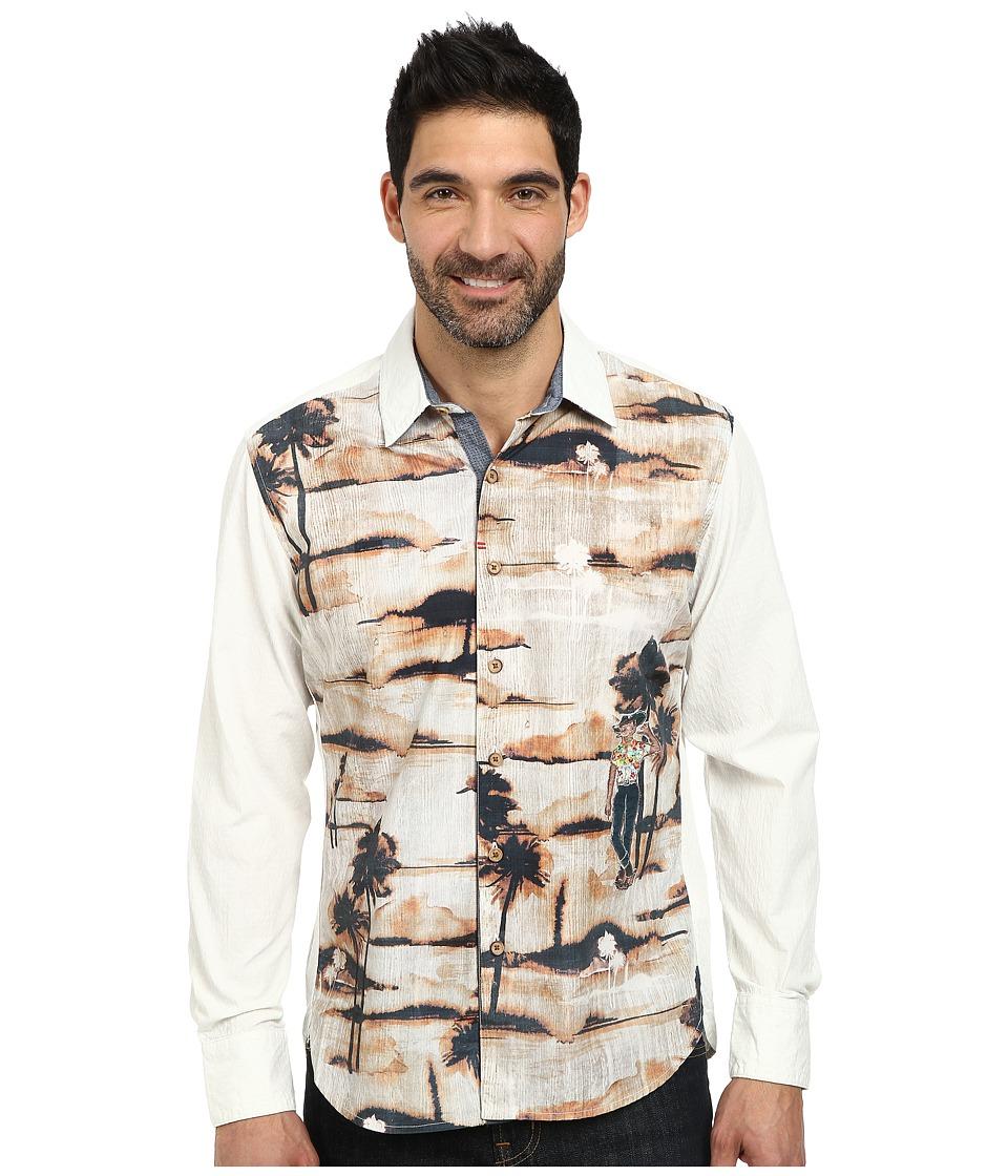 Robert Graham - Galapagos Long Sleeve Woven Shirt (Cream) Men's Long Sleeve Button Up