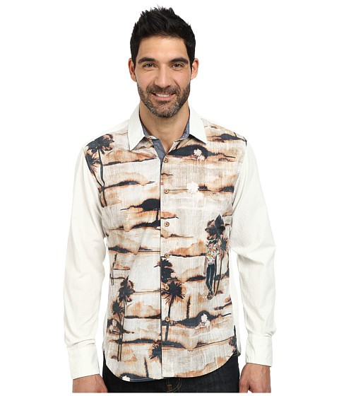 Robert Graham - Galapagos Long Sleeve Woven Shirt (Cream) Men