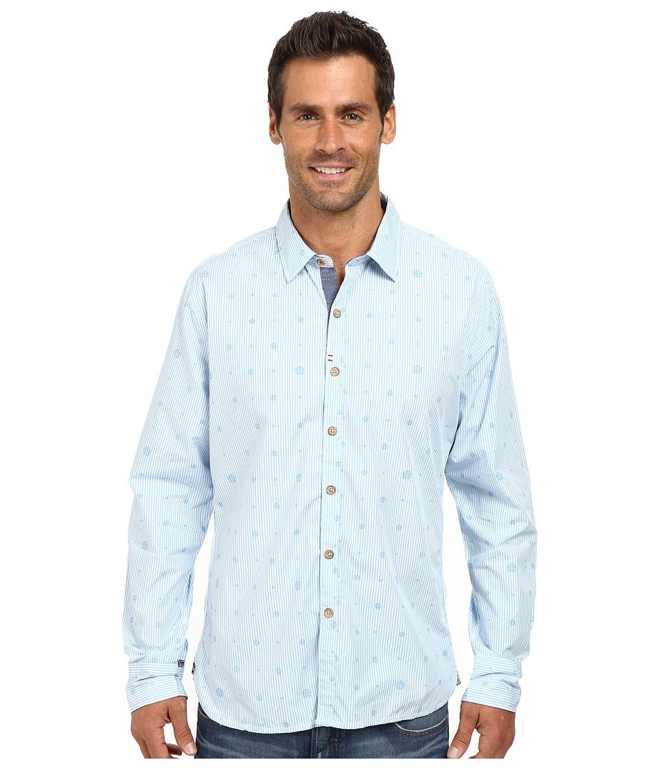 Robert Graham - Santa Monica Long Sleeve Woven Shirt (Light Blue) Men's Long Sleeve Button Up
