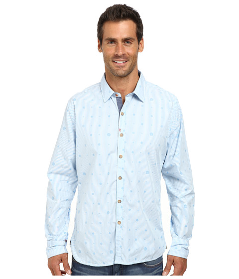 Robert Graham - Santa Monica Long Sleeve Woven Shirt (Light Blue) Men's Long Sleeve Button Up