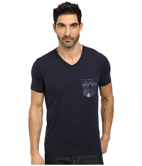 Diesel - T-Bascon T-Shirt (Midnight/Blue) Men
