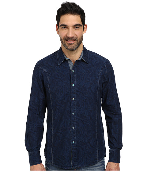 Robert Graham - Santa Barbara Long Sleeve Woven Shirt (Navy) Men's Long Sleeve Button Up