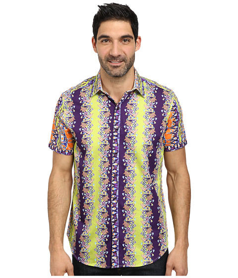 Robert Graham - Pukapuka Short Sleeve Woven Shirt (Kiwi) Men's Short Sleeve Button Up