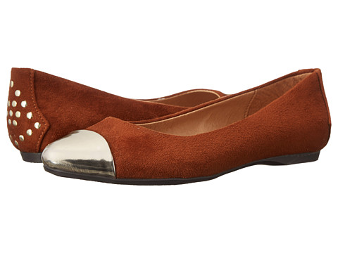 CL By Laundry - Brighter Day (Cognac/Gold) Women's Flat Shoes