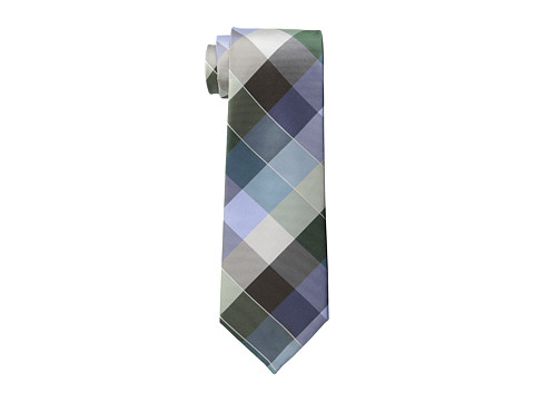 Kenneth Cole Reaction - Garden Plaid Tie (Green) Ties