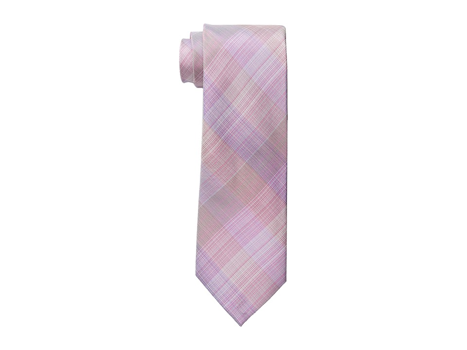 Kenneth Cole Reaction - Fine Plaid Tie (Pink) Ties