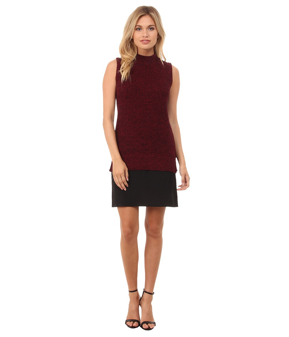 French Connection - Hendy Knits Sweater Dress 71EEW (Runaway Red/Black/Black) Women's Dress