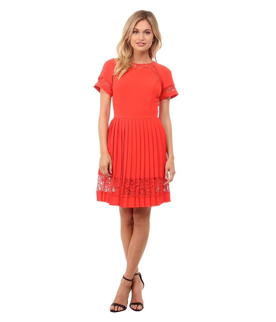 French Connection - Arrow Lace Dress 71ECD (Riot Red) Women