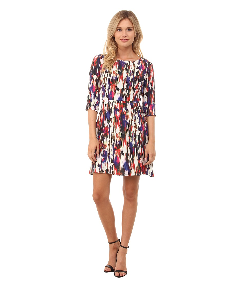 French Connection Record Ripple Drape Dress 71EBI (Prince Rocks Multi) Women
