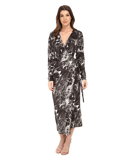 KAMALIKULTURE by Norma Kamali - Dolman Front Back Wrap Dress (Marble) Women