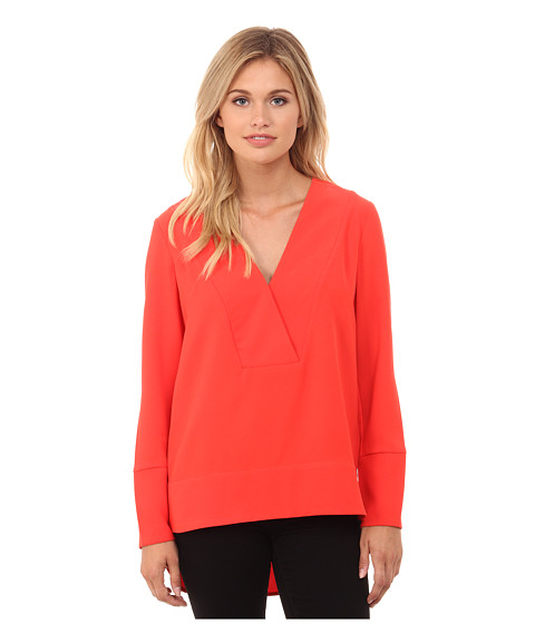 French Connection - Arrow Crepe Top 72EAO (Riot Red) Women's Clothing