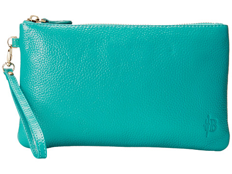 Mighty Purse - Coated Cow Leather Charging Wristlet (Turquoise) Wristlet Handbags