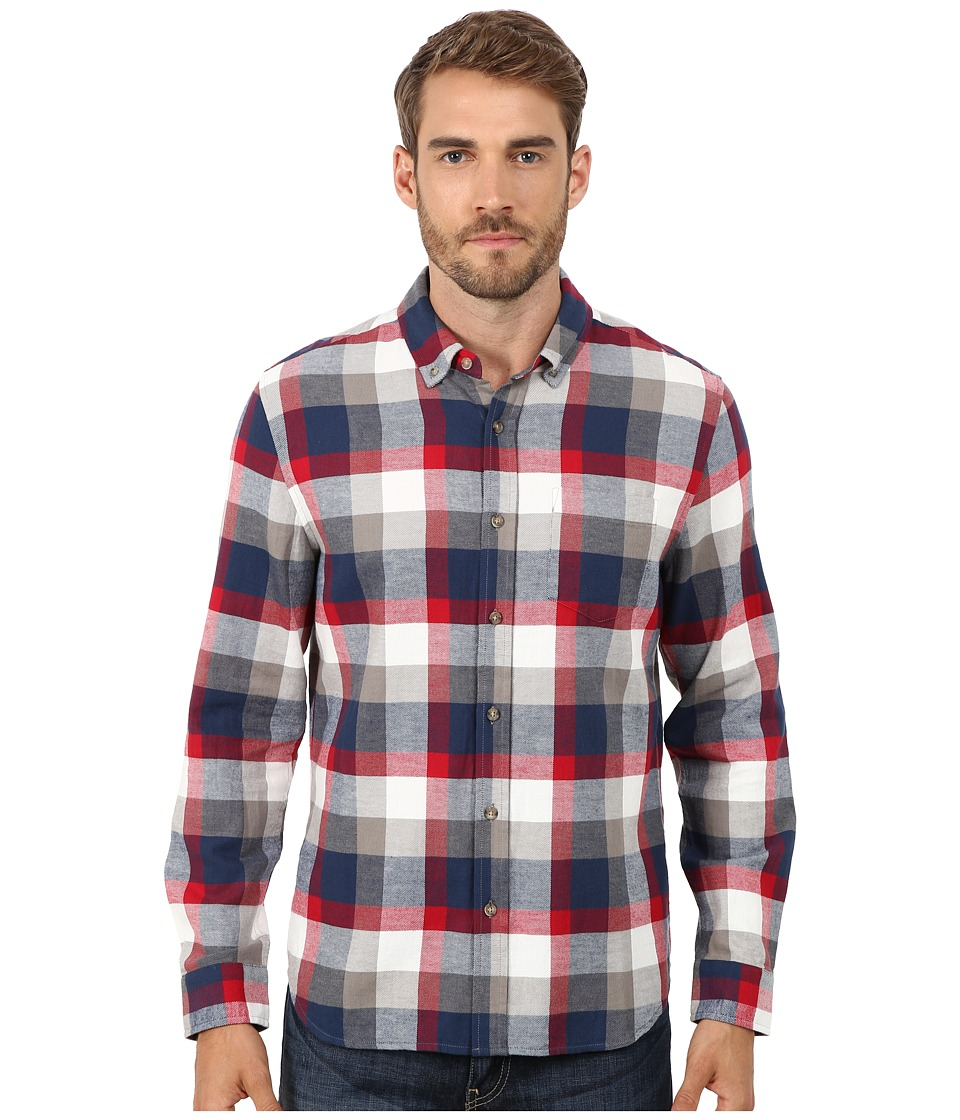 AG Adriano Goldschmied - Twilight Check Nibus Shirt (Twilight Blue/Red Check) Men's Long Sleeve Button Up