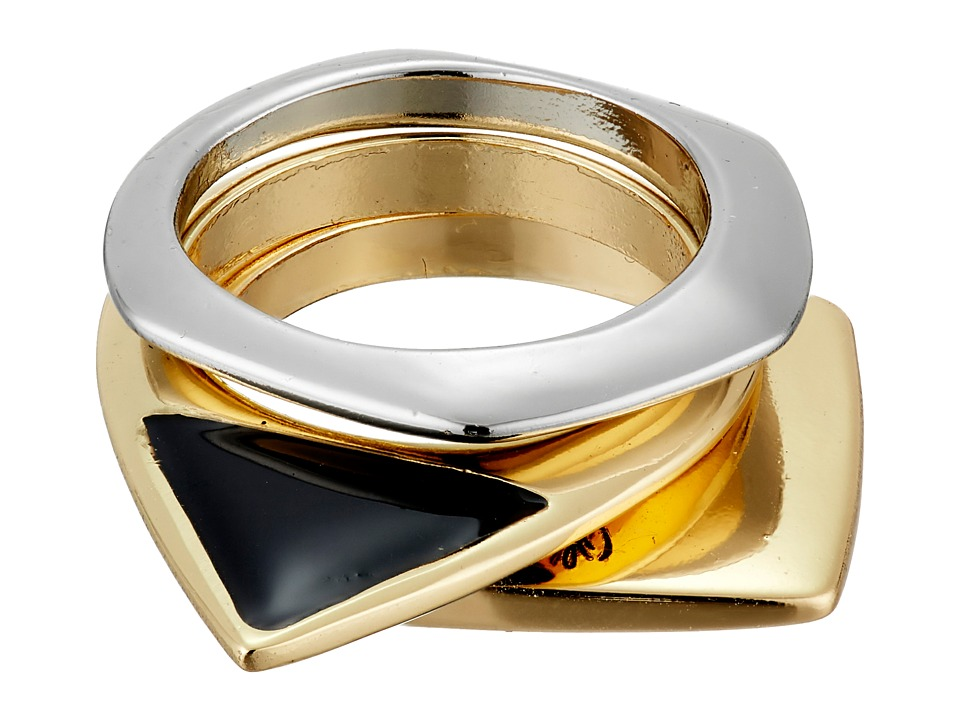 Sam Edelman - Geo Stack Rings (Two-Tone) Ring